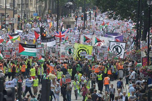 Marchas en solidaridad con el pueblo palestino