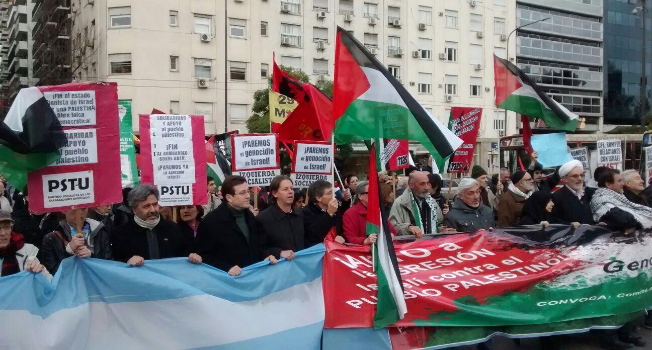 El PTS se movilizó contra la masacre en Gaza