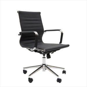 American Style 72A M kontorstol i kunstlaeder med lav ryg