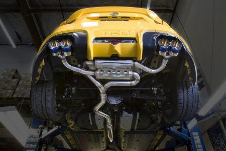mxp sp quad tip catback exhaust system for trd 2013 fr s brz