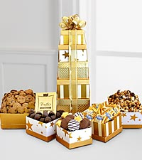 Golden Tower of Chocolates