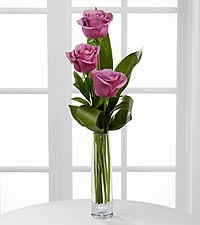 Legendary Roses Lavender Rose Bouquet - VASE INCLUDED