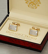 Donald Trump Gold-Plated Rhodium Cufflinks