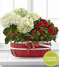The FTD® Editor's Choice Heart-filled Holidays Basket by Better Homes and Gardens®
