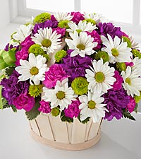 The FTD® Blooming Bounty™ Bouquet - BASKET INCLUDED