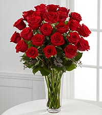 The FTD® Long Stem Red Rose Bouquet - VASE INCLUDED