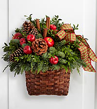 The FTD® Home for the Holidays Hanging Basket by Better Homes and Gardens®