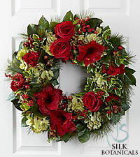 Jane Seymour Silk Botanicals Holiday Garden Wreath