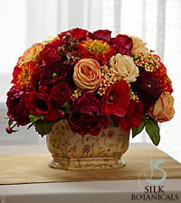Jane Seymour Silk Botanicals Dahlia-Rose Centerpiece