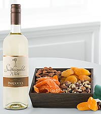 Holiday Celebration Wine & Dried Fruit Gift Set