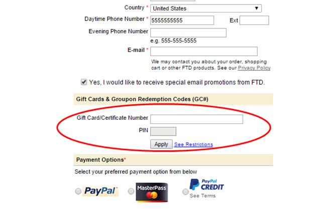 Msp Gift Certificate Redeem Code