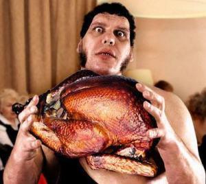 Andre-The-Giant-Holding-Roasted-Turkey