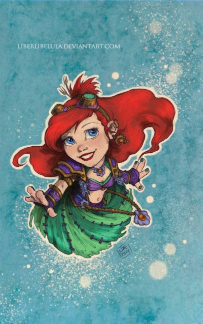 disney_meets_warcraft___ariel_by_liberlibelula-d7oqxeb