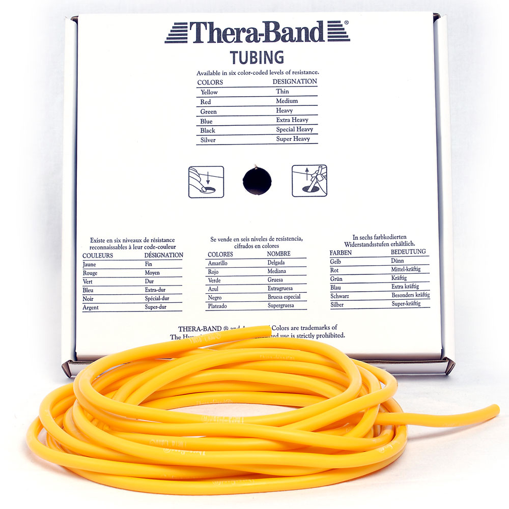 theraband tubing gelb leicht dunn meterware fitness tube
