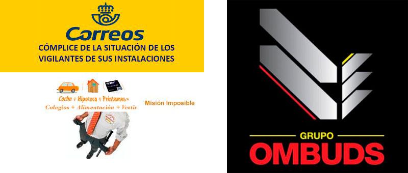 La FTSP-USO se manifiesta y pide a Correos rescindir su contrato con Ombuds