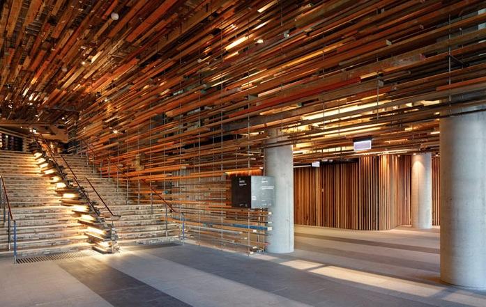2000 Flying Pieces Of Wood Suspended Building1 Fubiz Media