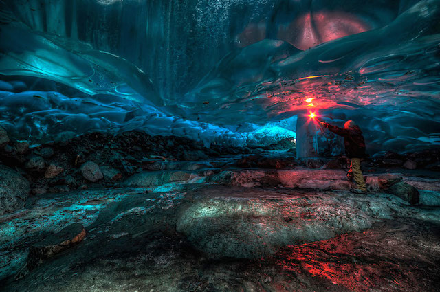 Alaskan Ice Caves By Ron Gil