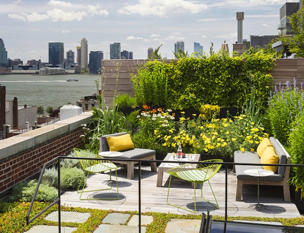 rooftop garden manhattan new york Amazing Loft with Rooftop in Manhattan – Fubiz Media