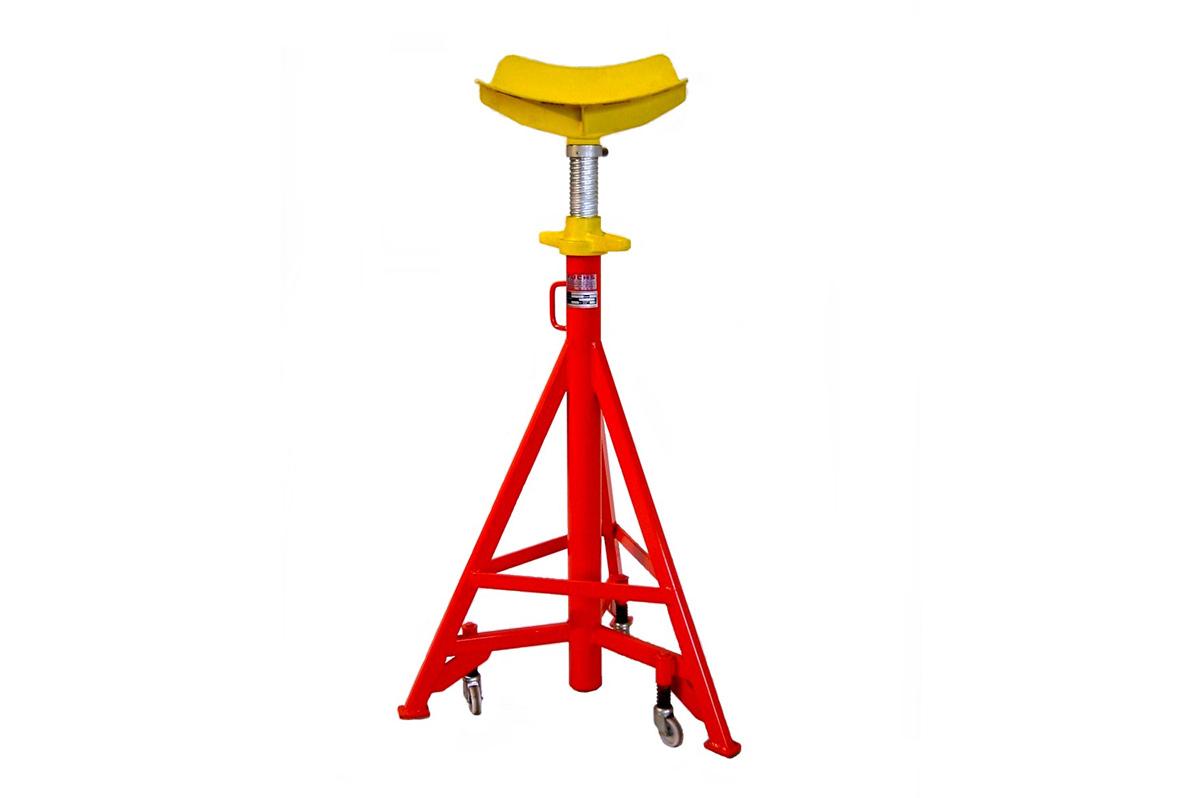 Unterstellbock mit 5000kg Tragkraft und stufenloser Spindelverstellung (650mm). Die Grundbauhöhe beträgt wahlweise 1340mm (Typ: UB-N-S 5 / Art. Nr.: 8.712.000) oder 990mm (Typ: UB-K-S 5 Art. Nr. 8.712.000-K)