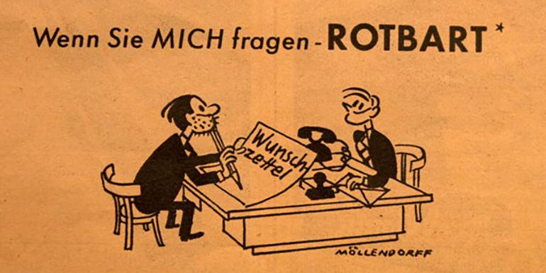Werbung von Rotbild aus den 50ern.