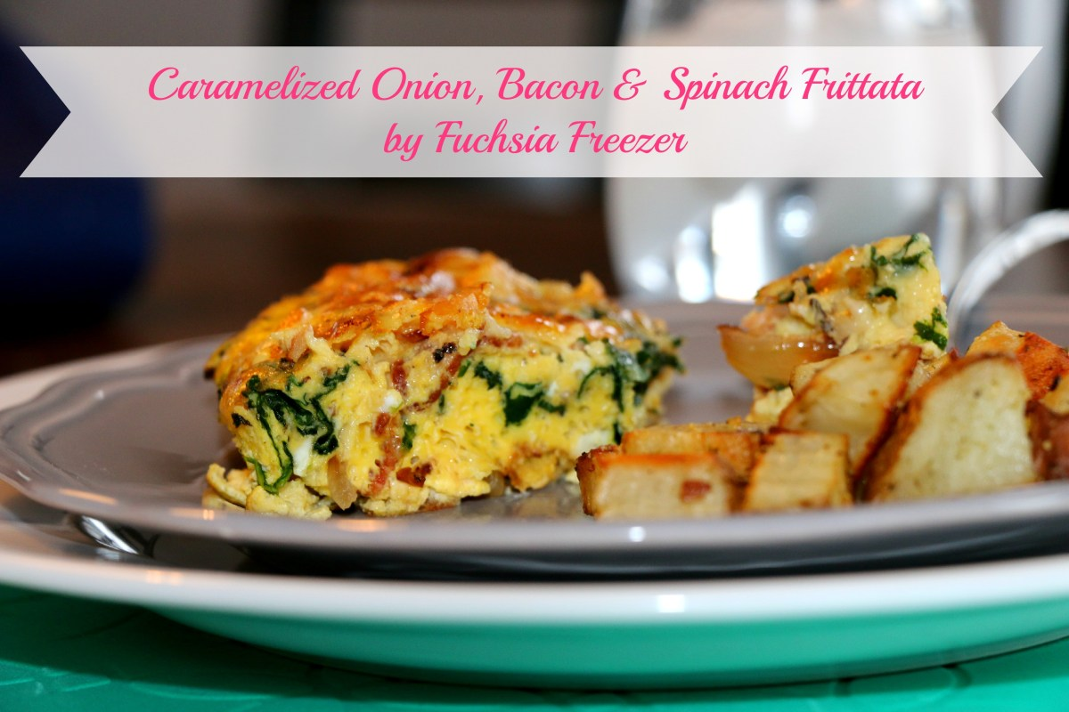 Caramelized Onion, Bacon & Spinach Frittata