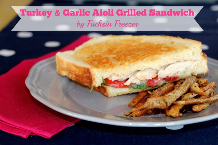 Weeknights can be a total mess with events planned or forgetting to take something out to make? Try this delicious Turkey & Garlic Aioli Grilled Sandwich. Grab a cooked chicken from the grocery store eon your way home, and your minutes away to a delicious meal!