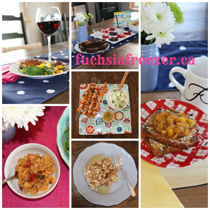 set up table collage