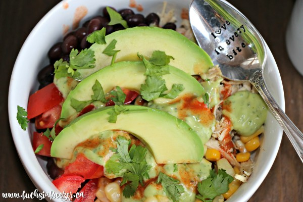 Chicken Burrito Bowls make the perfect weeknight meal. You can have dinner on the table in the same amount of time it takes to make rice!