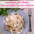 Cook Once Eat Thrice Mexican Style Chicken