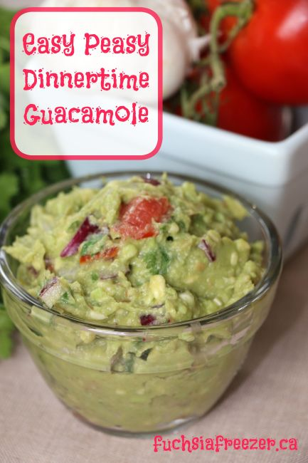 Easy Dinnertime Guacamole