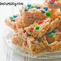M&M Rice Krispy Treats