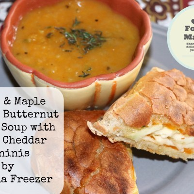 Apple & Maple Roasted Butternut Squash Soup with Apple Cheddar Panini's #FoodieMamas
