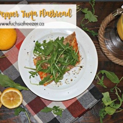 Lemon Pepper Tuna Flatbread