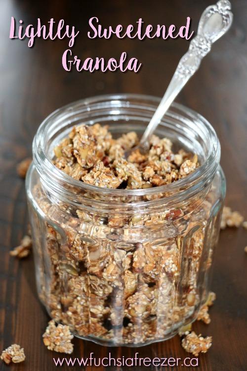 Lightly Sweetened Granola
