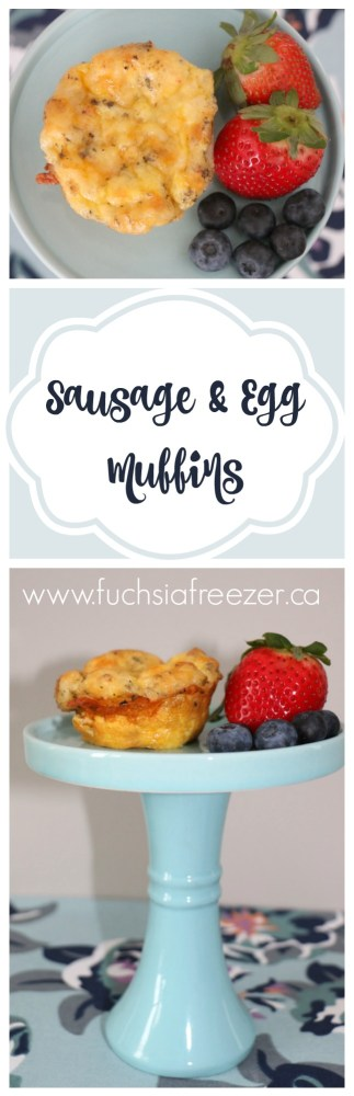 Take one hour out of your day and make these amazing Sausage & Egg Muffins. Meal prep for the week is easy peasey and you end up with delicious breakfast or lunch!