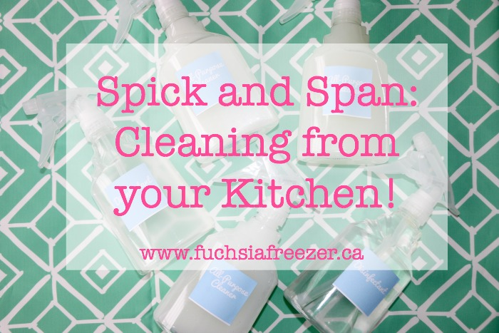 Spick and Span: Cleaning from your Kitchen!