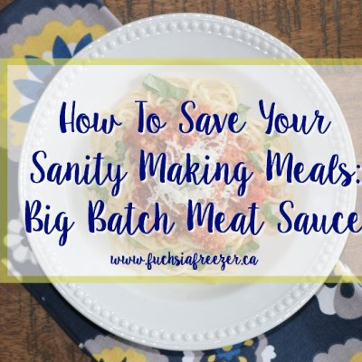 How To Save Your Sanity Making Meals