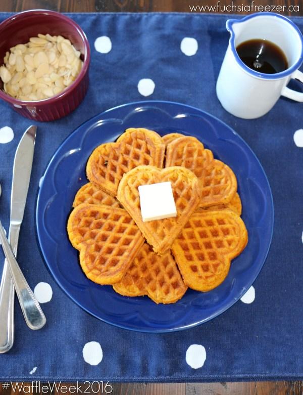 Pumpkin Spice Waffles Served
