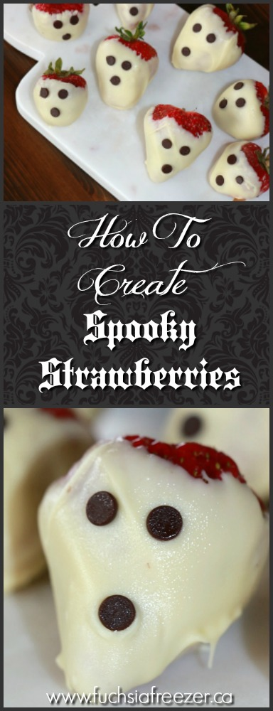 How To Create Spooky Strawberries. White chocolate, delicious strawberries and mini chocolate chips are all you need to create these delicious (and spooky) treat! And the trick? Well click to find out more!