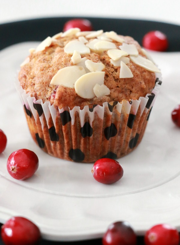 Cranberry Almond Banana Muffins