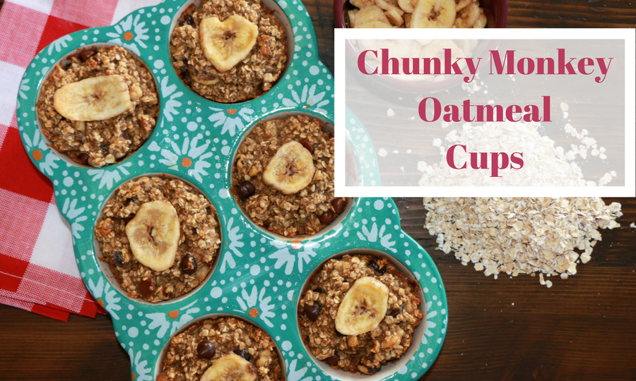Chunky Monkey Oatmeal Cups + a Freezer PARTY!