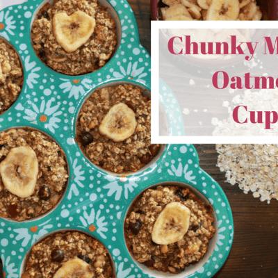 Chunky Monkey Oatmeal Cups + a Freezer PARTY!