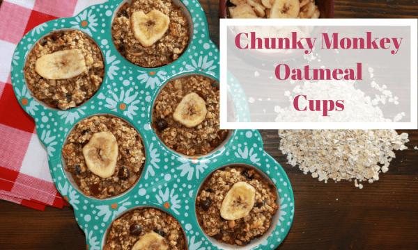 Chunky Monkey Oatmeal Cups