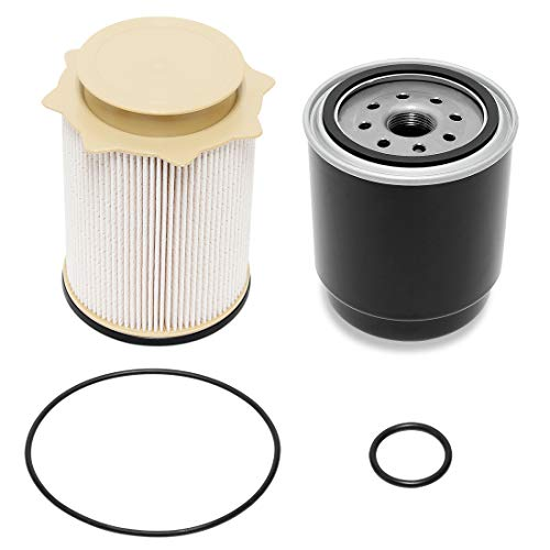 silver iFJF 68065612AA Fuel Filter Canister Housing Cover Cap for Dodge Ram 6.7L Cummins Diesel Engine 2500 3500 4500 5500 2010-2018