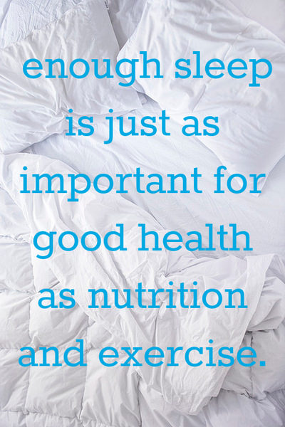 Runner Things #1367: Enough sleep is just as important for good health as nutrition and exercise.