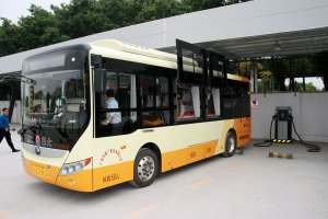 Electric bus in Guangzhou. Photo courtesy of Jürg Grütter.