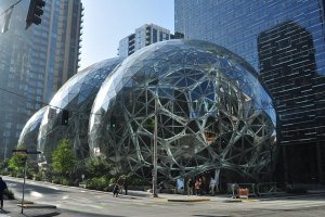 Amazon Spheres in Seattle.