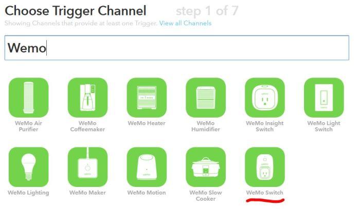 IFTTT Crear receta Canal Trigger