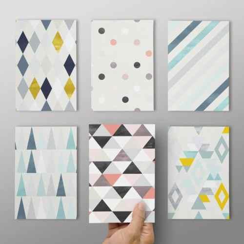 Postkarten 6er Set - Muster 2 - Fuenf vor Zehn