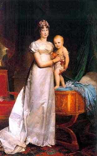 Maria Luisa y su hijo, Napoleón II
